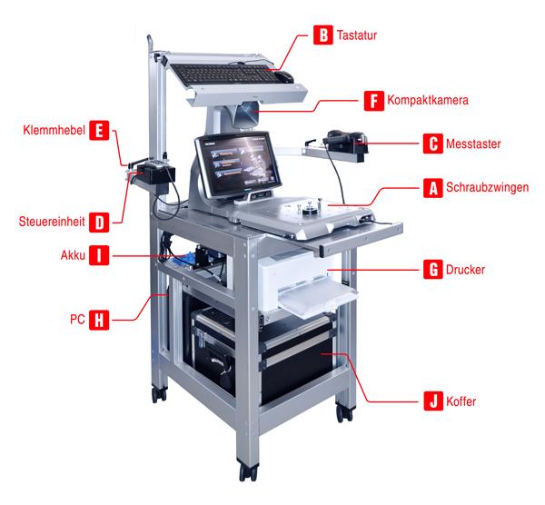 3D Messmaschine Koordinatenmessgeräts als Workstation
