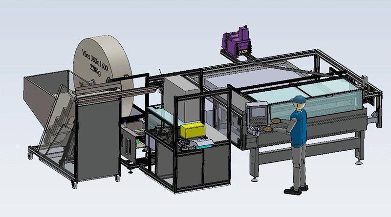 Fertigungsanlage zur Herstellung von Matratzen-Rohlingen