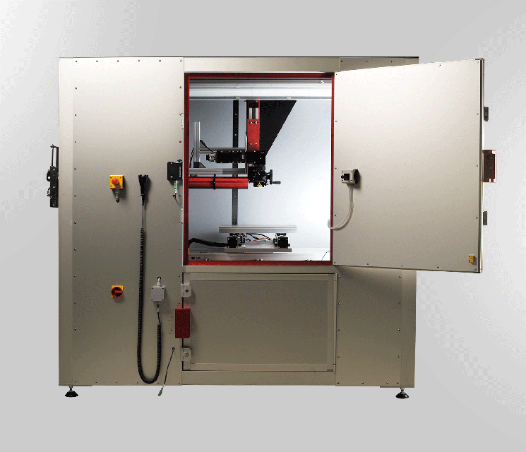 Verriegelte trennende Schutzeinrichtungen mit Zuhaltung an Laserkabine