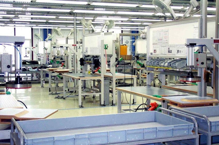 Handarbeitsplatz zur Fertigung von PKW-Sitzen