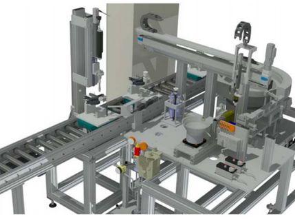 Zuführsystem für die Montagezelle für Verschlussschrauben