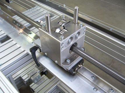 Laservermessung auf linearführungsbestücktem Profil