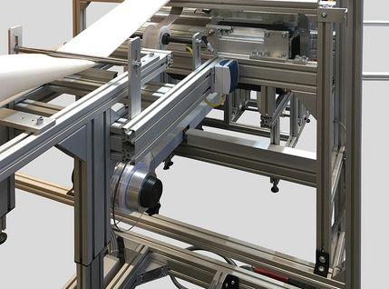 Industrienähmaschine für Wischbezüge