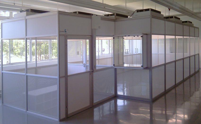 Trennendes Reinraumsystem - Trennwandsystem zur Unterteilung von Räumen