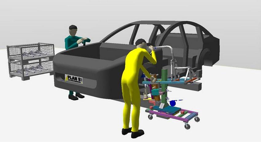 3D Visualisierung zur Montageplanung