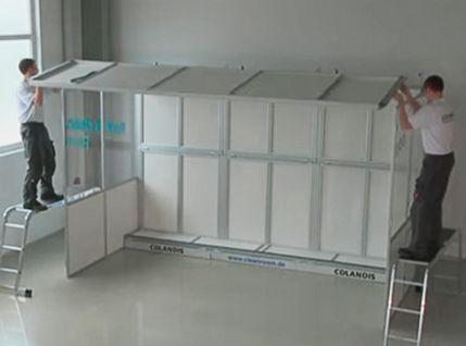 Video zum Aufbau der Reinraumkabine
