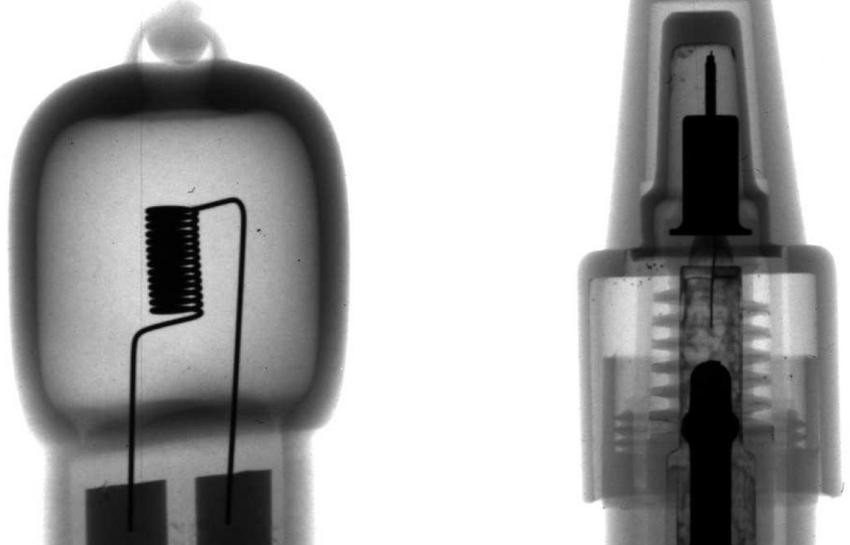 Röntgenbild von technischen Bauteilen