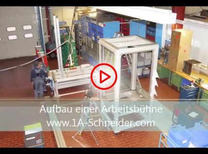 Video zum Aufbau der Arbeitsbühne mit Plattform
