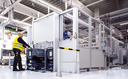 Schutzeinrichtungen für Maschinen und Anlagen