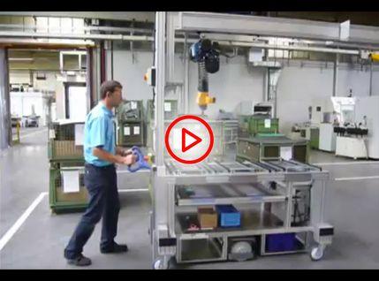 Video Industrie-Transportwagen elektrisch angetrieben