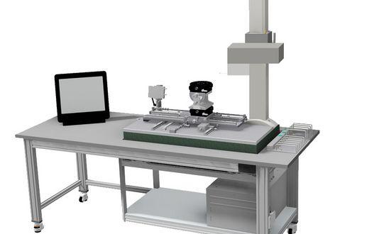 Arbeitsplatz mit Messtisch für Oberflächen-, Kontur- und Rauheitsmessungen