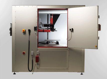 Rahmenkonstruktion der Laserkabine