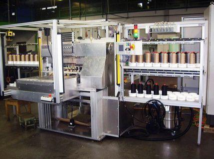 Industrienähmaschine für PVC-Kunstleder