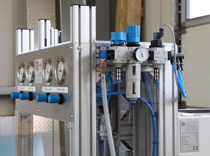 Bajonett-Verschlussanlage mit Ventilinsel von LSA