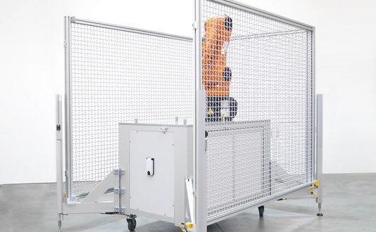 Flexible und mobile Roboterzelle für optimierte Auslastung und Flächennutzung
