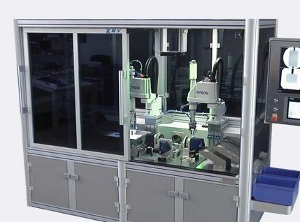 Prismen-Prüfautomat zur Prüfung von Fertigungsteilen