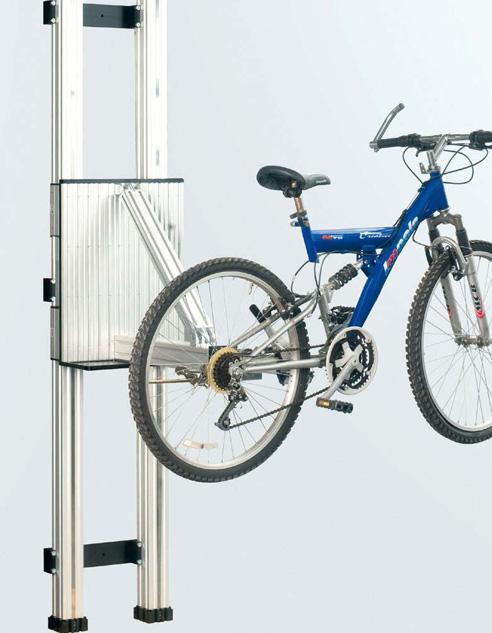 Vorrichtung einer Montagehebebühne für Fahrräder