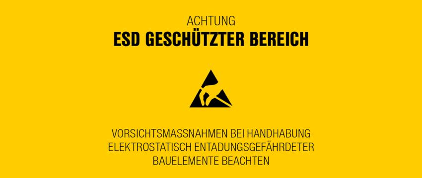 ESD Warnhinweis-Schild