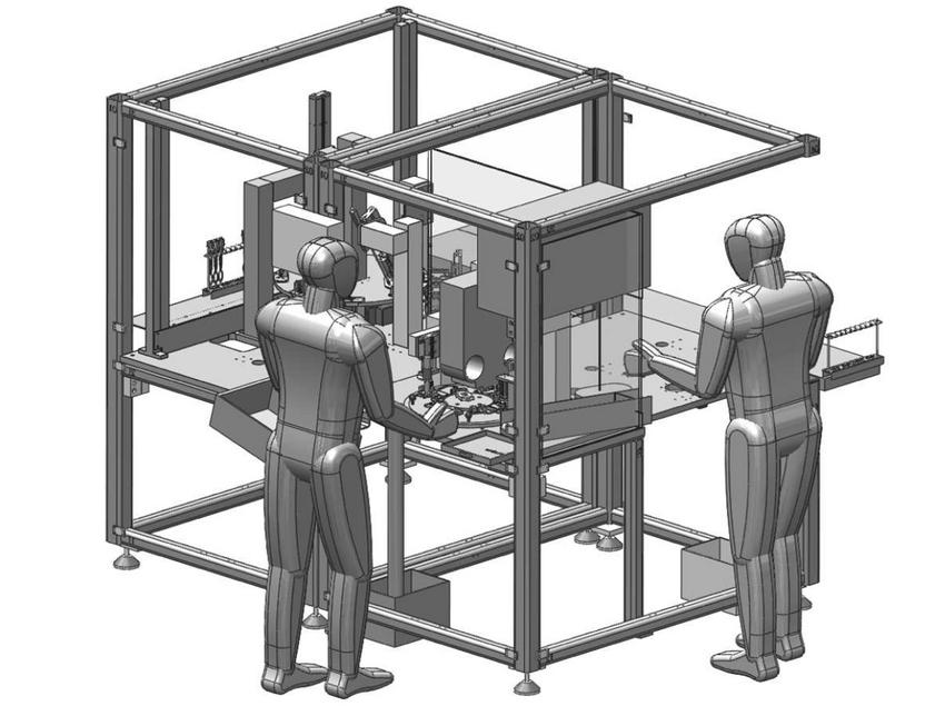 Produktionsanlage zum Röntgen von Bauteilen