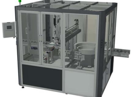 Montagezelle mit Schutzeinhausung