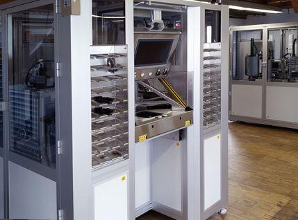 Laserkennzeichnungsanlage für Positions-Sensoren für die Automobilindustrie