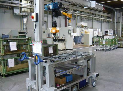 Transportwagen - Komissionierwagen für Abgas Turbolader (ATL)-Bauteilen