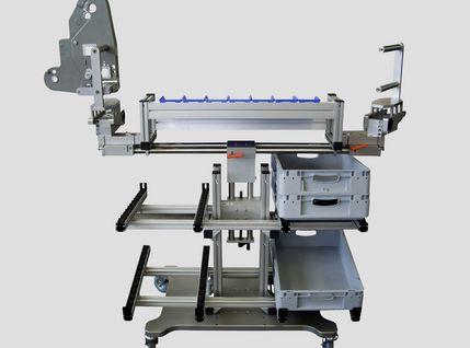 Ergonomische Montagevorrichtung für Etikettierer - Frontansicht