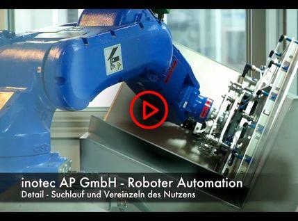 Robotergreifaram der automatischen Bohranalage