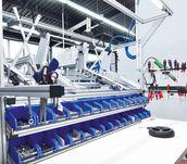 Montagearbeitsplatz gebaut aus MB Systembaukasten von item