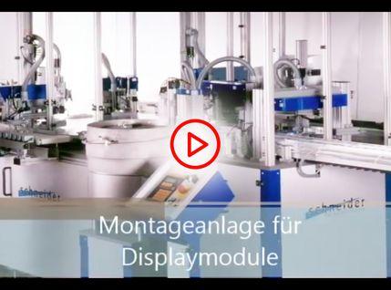 Video Montageanlage für Displaymodule
