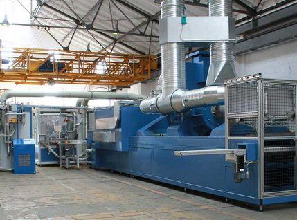 Pulverbeschichtungsanlage mit Hybridheizung