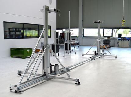 Wendevorrichtung für Glasscheiben mit einer Breite mit bis zu 5400 mm und einer Höhe von 3000 mm