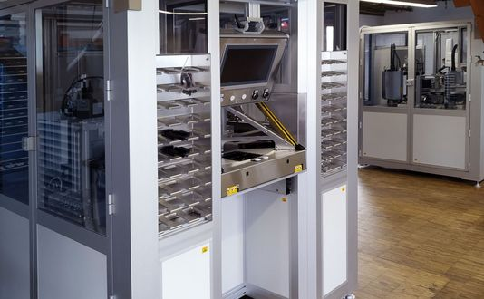 Laserkennzeichnungsanlage für Positions-Sensoren