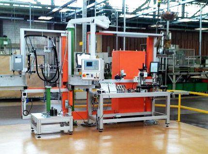 Montagearbeitsplatz zur Getriebemontage