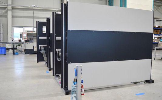 Schutztüre für eine Druckgussmaschine