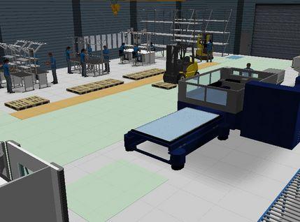 3D geplante Montagelinie