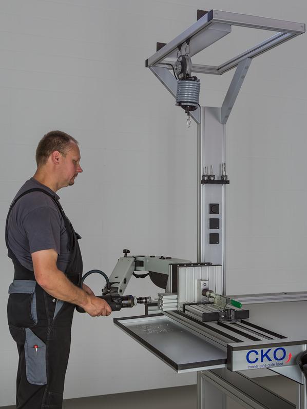 Ergonomisches Arbeiten bei der Bearbeitung von Profilen