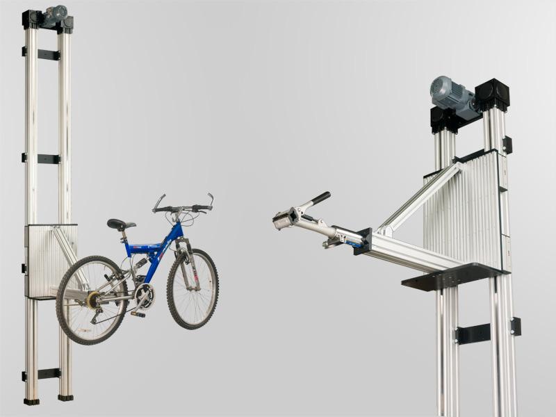 Hebebühne für ein Fahrrad
